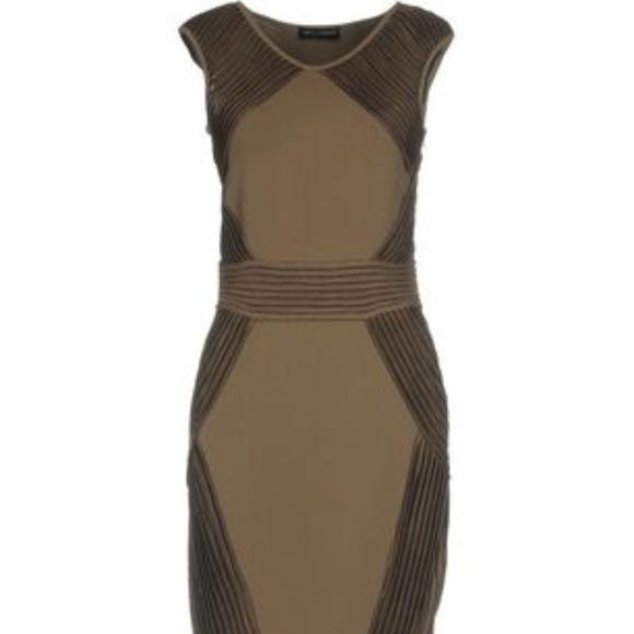 Antonino Valenti Dresses & Skirts - Antonino Valenti Olive Green Pleated Dress